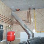 Монтаж труб для второго этажа